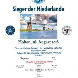 Urkunde Holten, 26.08.2018 - V1 - Sieger der Niederlande